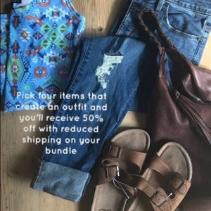 50% off and $4.99 ship. 4 pc. Outfit Bundle Deal